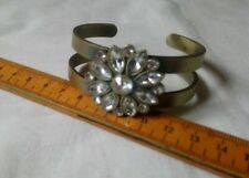 Abercrombie And Fitch Rhinestone Flower Bangle And Bracelet