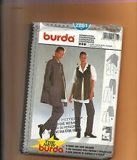 BURDA 2861 pattern coordinates jacket vest pants Sizes 10 12 14 16 18 20 uncut