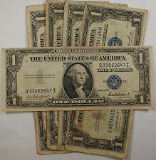 Lot of 5 Old 1935 One $1 Dollar Bills Silver Certificates VG-VF Vintage Notes