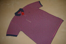 NEW NWT IZOD POLO STYLE MENS SHIRT SIZE EXTRA LARGE XL XG BLUE AND PINK STRIPES