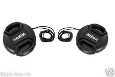 2pcs New 58mm Front Lens Cap Hood Cover Snap-on for Nikkor Nikon 50MM 55-300MM