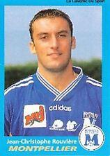 N°240 ROUVIERE MONTPELLIER HERAULT VIGNETTE PANINI FOOTBALL 96 STICKER 1996