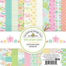 Scrapbooking Crafts Doodlebug 6X6 Paper Pad Spring Things Sun Clouds Bugs Dots