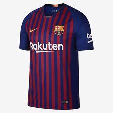 Men's 2018/19 Team Barcelona Football Club Home Navy Stadium Jersey Soccer XXL