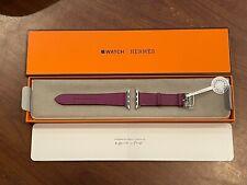Apple Watch Hermès 40mm Anémone Purple Single Tour Swift Leather Strap Only NEW