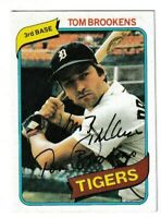 1980 Topps Tom Brookens Autographed Card - Detroit Tigers TTM - #416