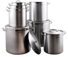 Profonde en acier inoxydable Stock Soupe Pot 20-100 L ragoût Casserole Brew cuisson Pan Inox