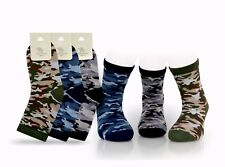 Boys Army camouflage Sock  90% cotton Rich Age 5 to 12 years