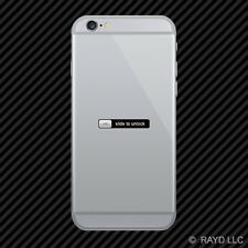 Slide to Unlock Cell Phone Sticker Mobile Die Cut funny humor