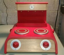 NEW Pottery Barn Kid RED Countertop Kitchen STOVE Pretend PLAY Portable