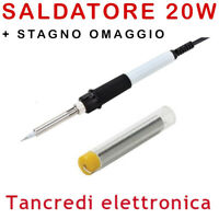 SALDATORE A STILO 20W STAGNO OMAGGIO LUNGA DURATA ZD-23 SALDATURE DI PRECISIONE