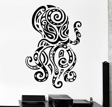 Wall Decal Octopus Ocean Sea Ornament Tribal Mural Vinyl Decal (z3186)