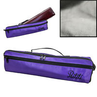 Paititi Brand New C Flute Hard Case Cover w Side Pocket/Handle/Strap Purple