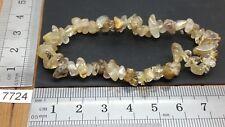Bracelet baroque QUARTZ RUTILE pierres roulée mineraux lithotherapie reiki chips