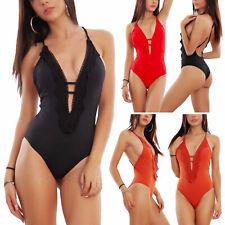 Costume intero donna scollato mare piscina monokini monopezzo TOOCOOL 19115