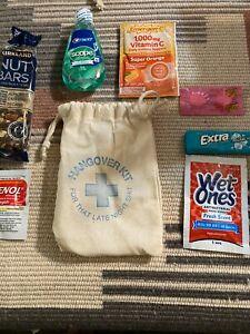 4 Hangover Kit Bag For Bachelor Bachelorette Party, Wedding filled with goodies