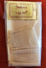 Nip 1960's Fashions by Butterfly Mod Textured Stockings Beige Stripes