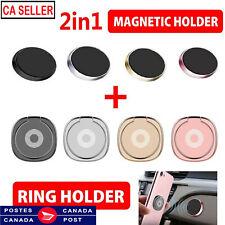 Phone Ring Finger Holder magnetic Car Mount Hook iPhone Stand Mobile Grip GPS CA