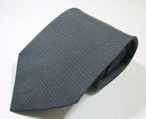 Gucci Grenadine Pattern Gray Color Woven Silk Classic Necktie Tie