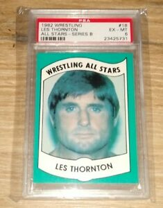 1982 Wrestling All Stars Les Thornton Series B PSA 6 Number 18