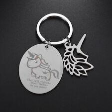 Hollow Unicorn Pendant Carving Key Chain Key Ring Bag Hangings Keyring Fashion