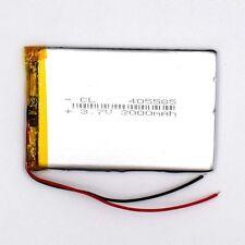 3.7V 3000 mAh Rechargeable Battery 405585 Li-Polymer Li Po for GPS Bluetooth MP3