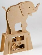 The Elephant Timberkits Flat-Bits Self-Assembly Wooden Construction Moving Model