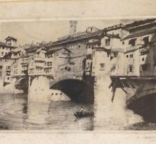 SZANTO 1889 1965 Pont VECCHIO FLORENCE Italie 1930 61/250 Sign