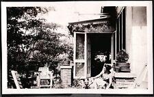 VINTAGE PHOTOGRAPH 1932 GIRL WOMAN LADY GERMAN SHEPHERD DOGS CAROLINA OLD PHOTO