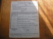 Document 1917,ravitaillement Sulfate de Cuivre,(fr23)