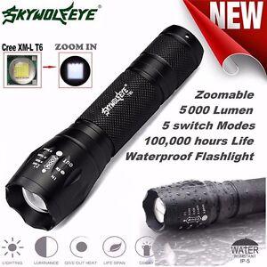 Tactical LED Flashlight G700 SkyWolfeye X800 Zoom Super Brigh