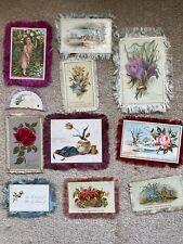 Antique Victorian Louis Prang , Tuck, De La Rue +Fringed Cards