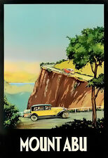 Art Ad Up to Mount Abu where its so cool and embracing Travel Poster Print