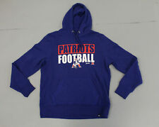New England Patriots Men's '47 Graphic Hooded Sweatshirt SV3 Blue Large