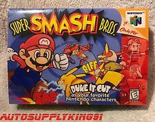 SUPER SMASH BROS. (Nintendo 64 N64, 1999) Game Complete CIB w/ Custom Box Mint