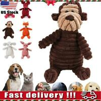 Funny Pet Dog Chew Toy Squeaker Squeaky Soft Plush Play Sound Puppy Teeth Toys