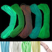 Glow in the Dark 10/20/50/100FT 550Lb Paracord Parachute Cord 9 Core Strand