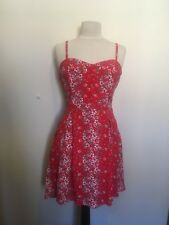 Forever New Size 12 2017 Red Floral Bustier Style Dress Perfect for Christmas!