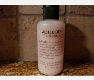 Philosophy Apricots and Cream Shower Gel 4 oz Brand New & Sealed