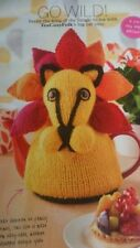 Knitting pattern Extra special Jungle Lion Cat tea cosy Teapot Cover DK wool