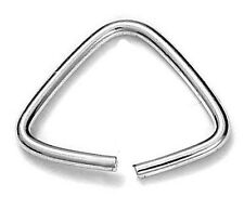 1 Solide Argent Sterling Simple triangle caution,12 mm; fil: 1.1 mm, titulaire