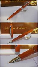 stilografica Paltinum Affection Red celluloid fountain Pen - Japan Stylo siz mF