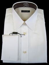 """Shirt - Dress - Men's - 15 3/4"""" neck - French Cuff - White - Cotton - From Italy"""