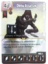 Battle for Faerun DROW ASSASSIN Greater Humanoid #68 D&D Dice Masters Dungeons