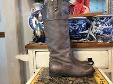 OTOT  Petaluma Boot Brown Leather Women's pull- on size 7.5 tall boots