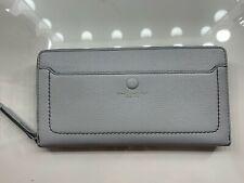MARC JACOBS Empire City Light Gray Medium Travel Clutch Pebbled Leather NWT
