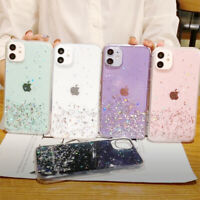 For iPhone SE 2020 11 Pro Max XS XR X 8 7 6s Glitter Clear Silicone Case Cover