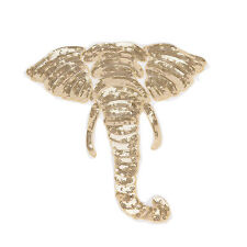 Gold heavy lace beads elephant patch animal clothing back embroidery DIY sewing