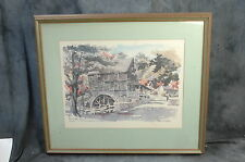 """Paul N Norton Reproduction Art Wights Grist Mill Framed Size 27"""" x 23"""""""