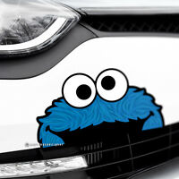 COOKIE MONSTER Funny Peeper Car,Van,Bumper,Window JDM DUB Vinyl Decal Sticker
